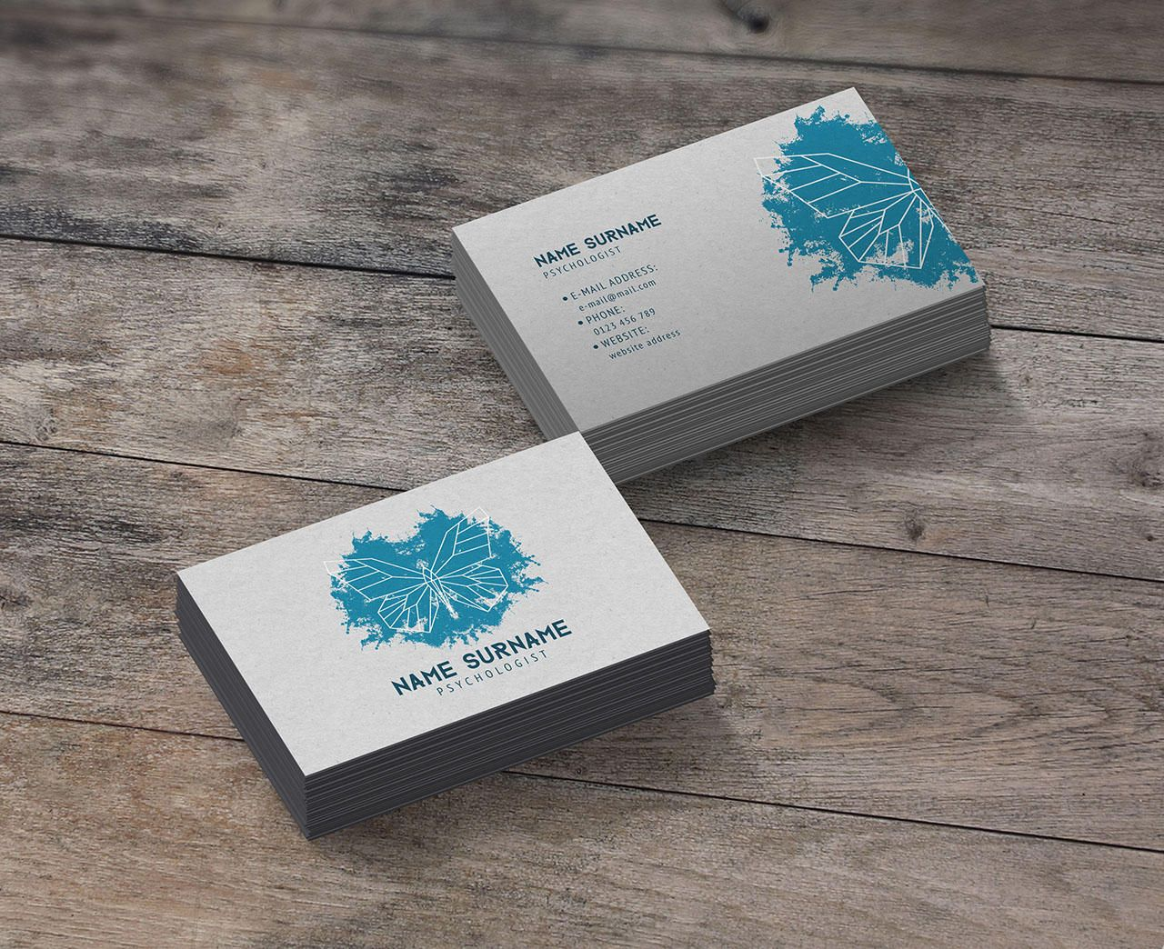 Professional Business Card Design By Geanine87 On Envato Studio Psychologist Business Card Psychologist Business Cards