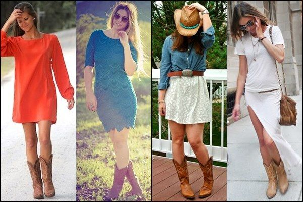 Cowgirl Boots And Dresses - Cr Boot