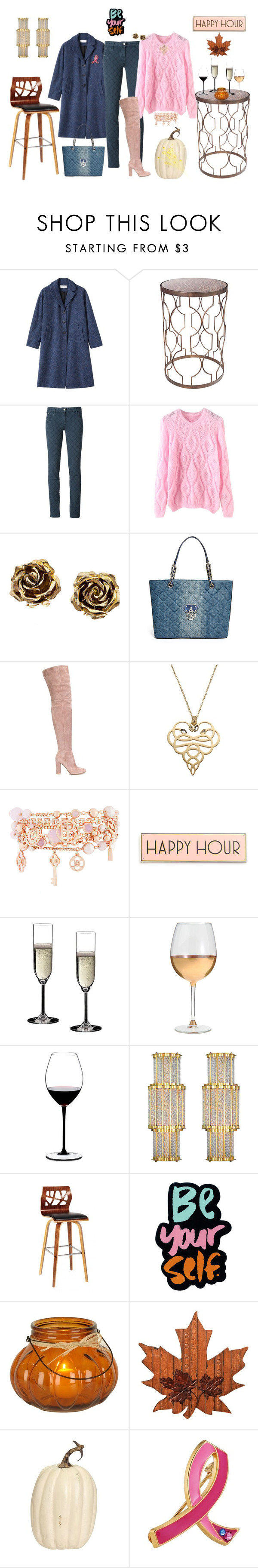 """""""Happy Hour Fundraiser"""" by winscotthk ❤ liked on Polyvore featuring Toast, Universal Lighting and Decor, Jacob Cohёn, Tiffany & Co., GUESS, Gianvito Rossi, Just Cavalli, Henri Bendel, Rosanna and Riedel"""