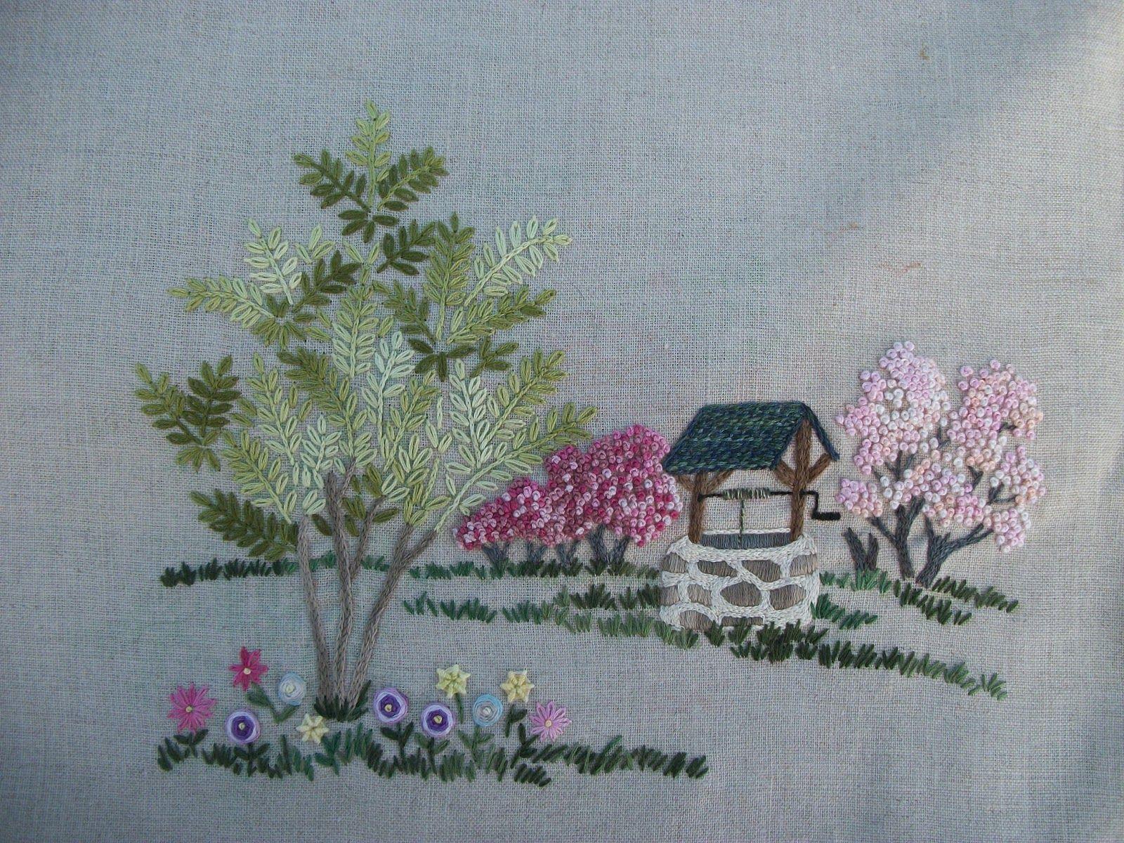 Ribbon embroidery bedspread designs - 100_2004 Jpg 1 600 1 200 Pixels Ribbon Embroideryembroidery Stitchescottagesvintage Designsbaby