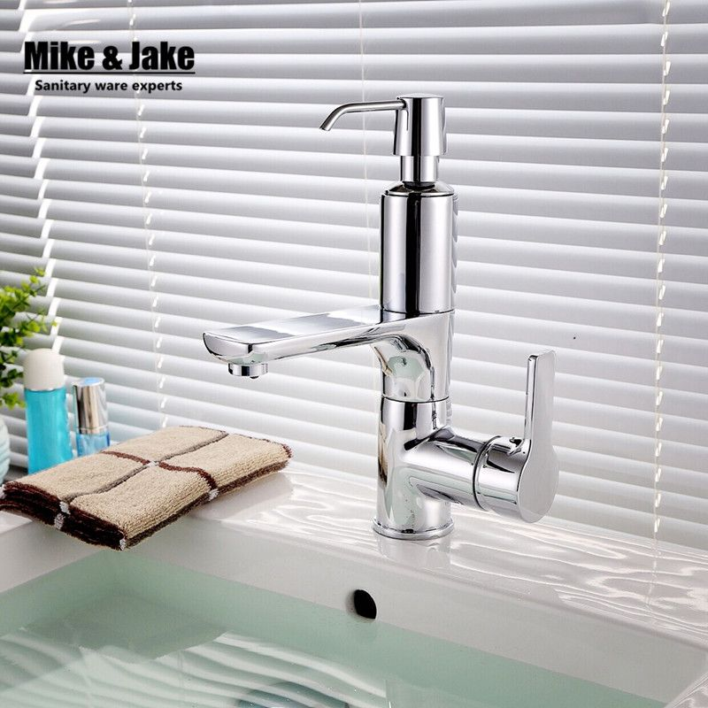 Bathroom faucet with soap dispenser chorme faucet basin crane 2 in ...