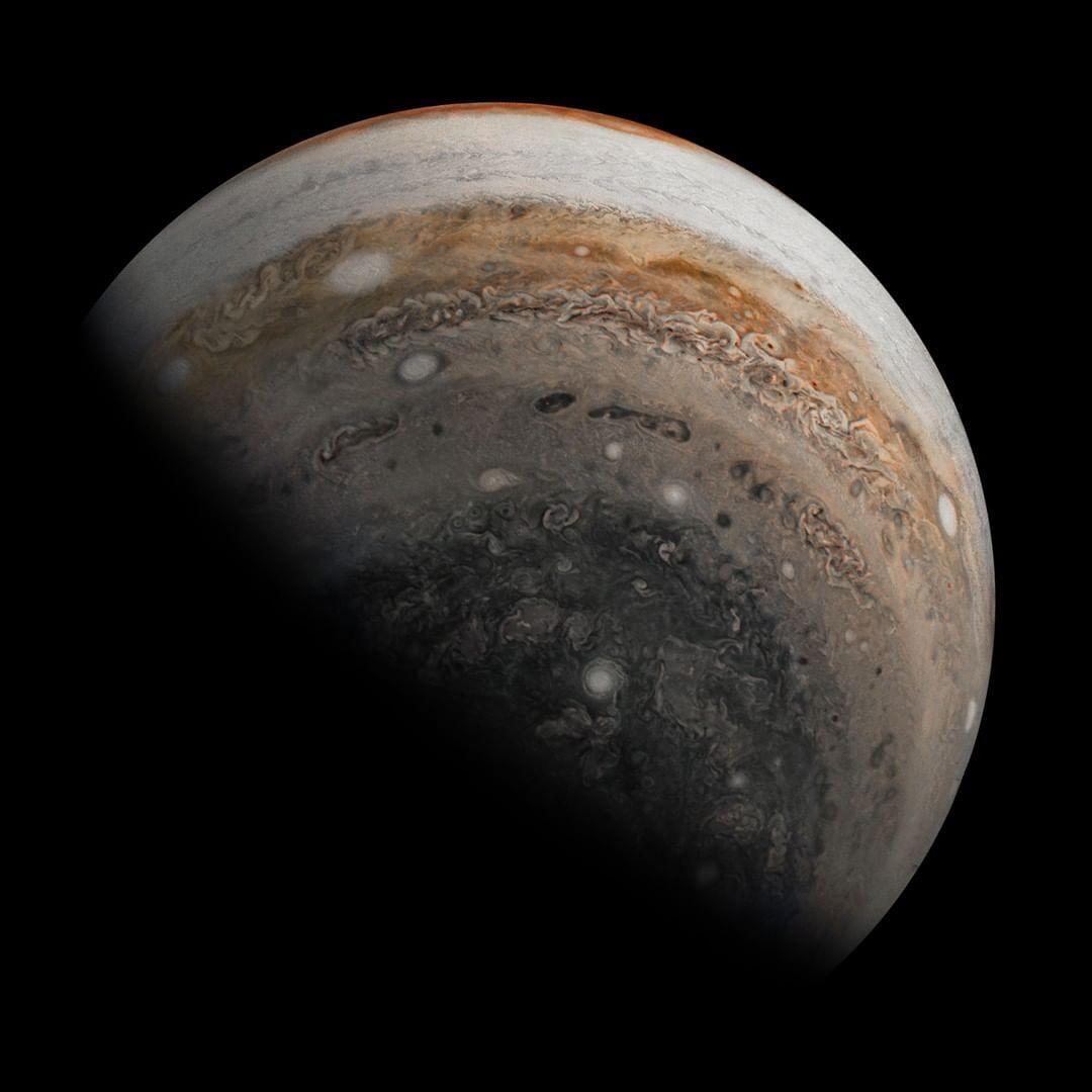 "NASA On Instagram: ""Looking Back At Jupiter's Chaotic"