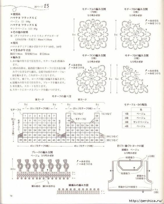 Patrones y modelos para tejer la parte de arriba de una solera o camisón una combinación entre dos perfecta