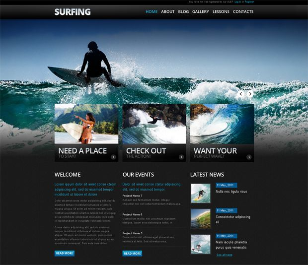 drupal designed surfing website - Great Website Design Ideas