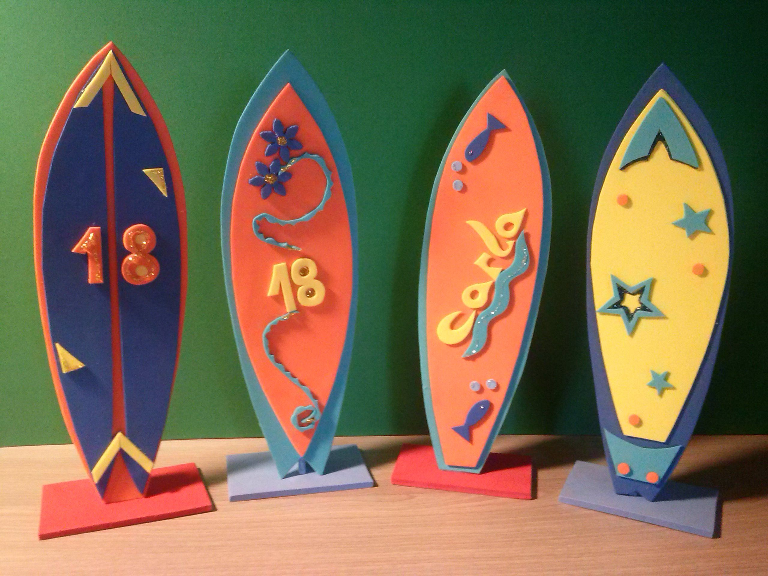 Tablas surf manualidades en goma eva pinterest surf - Tabla surf decoracion ...