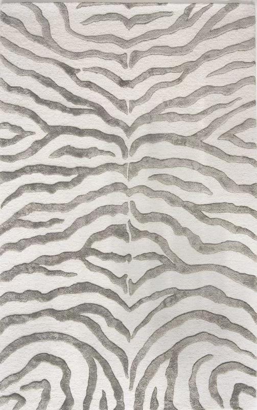 Dodgson Animal Print Handmade Tufted Wool Gray Area Rug Zebra Area Rug Zebra Rug Area Rugs