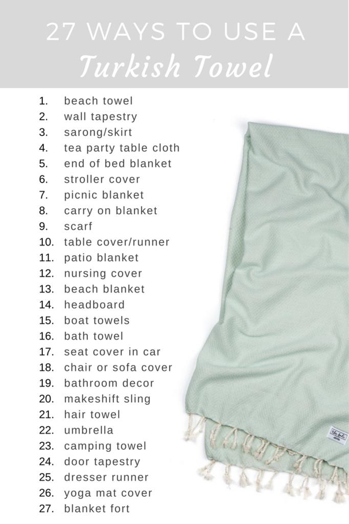27 Practical Ways To Use A Turkish Towel Turkish Towels Turkish