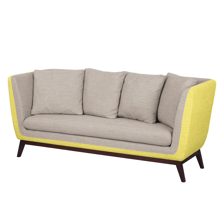 Sofa Sagone 3 Sitzer Webstoff Gelb Hellgrau Morteens Jetzt