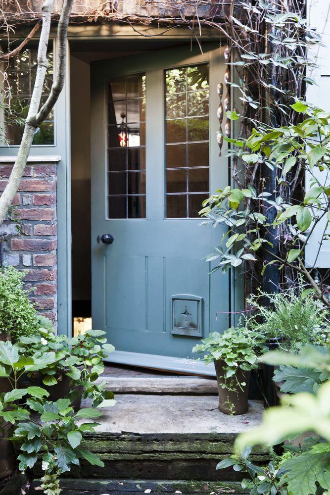 Back door at 7 Fournier Street.