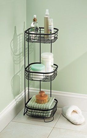 Amazon Com Mdesign Free Standing Bathroom Or Shower Storage