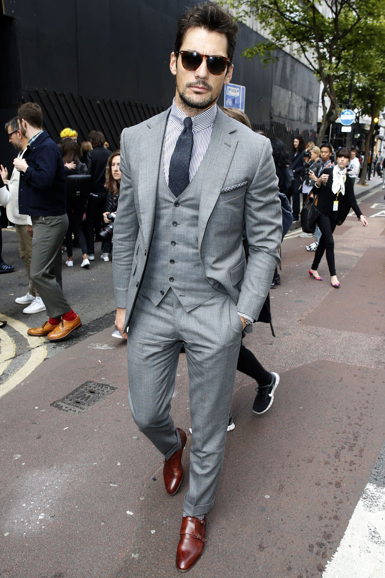 c254b6fd31aef David Gandy Wore an Amazing Suit at London Collections Men - David Gandy  Best Suits 2015