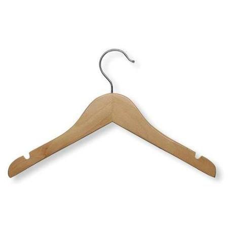 Honey Can Do Hng 01224 Kids Shirt Hanger Maple Wood Pk 5 Walmart Com Kids Wood Wood Hangers Wooden Hangers