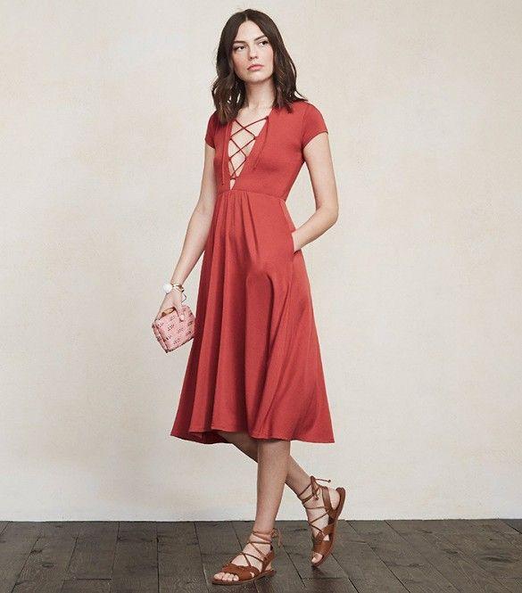 Reformation Sandy Dress in Elder Flower