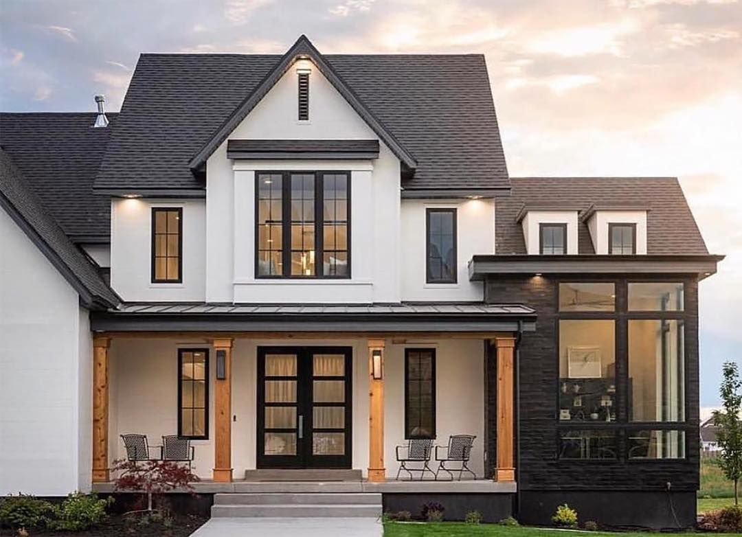 Farmhouse living on instagram this weekend has been all about home exteriors today on the - Black house with white trim ...