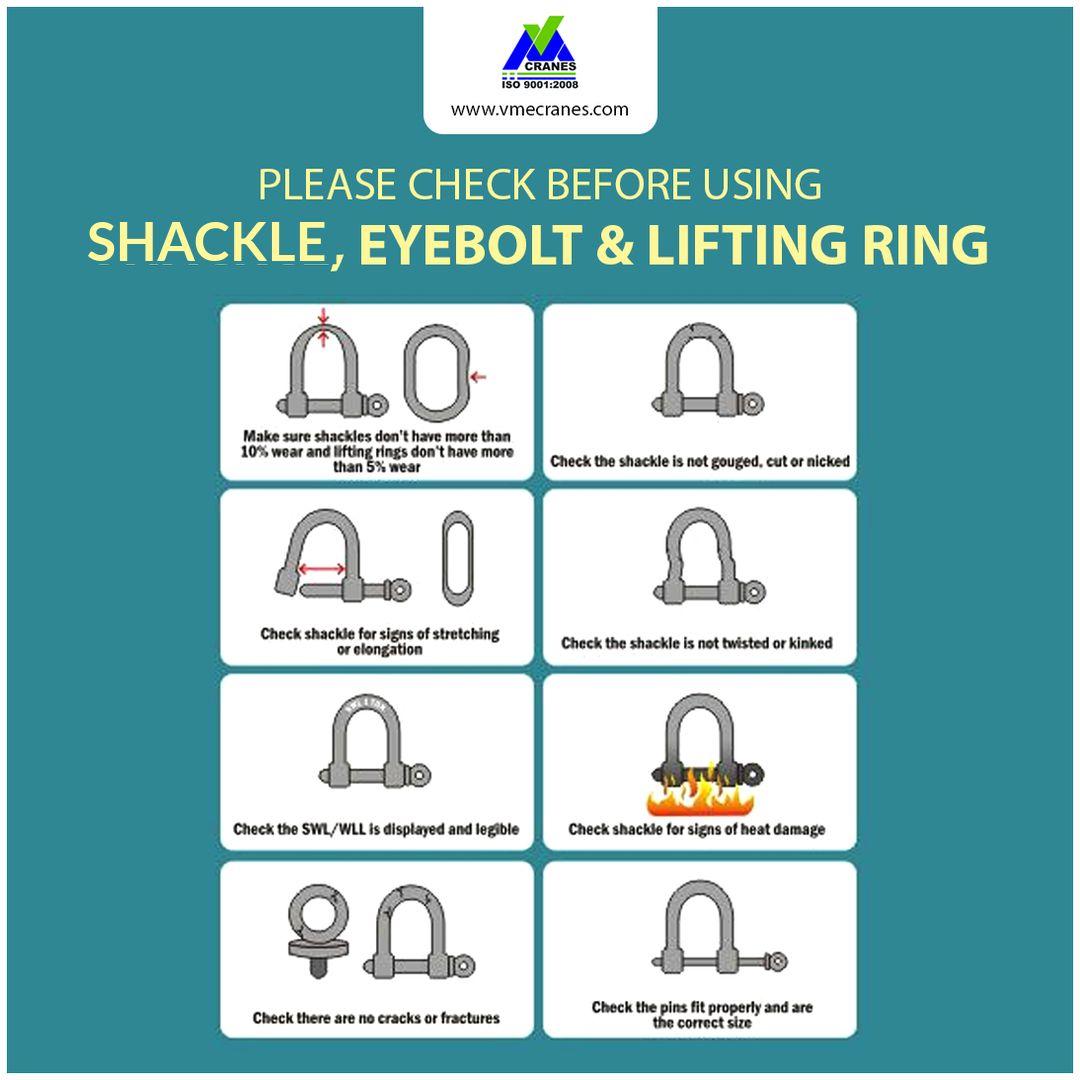 Check before using Shackle,Eyebolt and Lifting Ring #VMECranes ...
