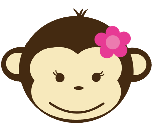 girl monkey clip art babyface 128 birthday invitations with rh pinterest com monkey face clipart cute monkey face clipart