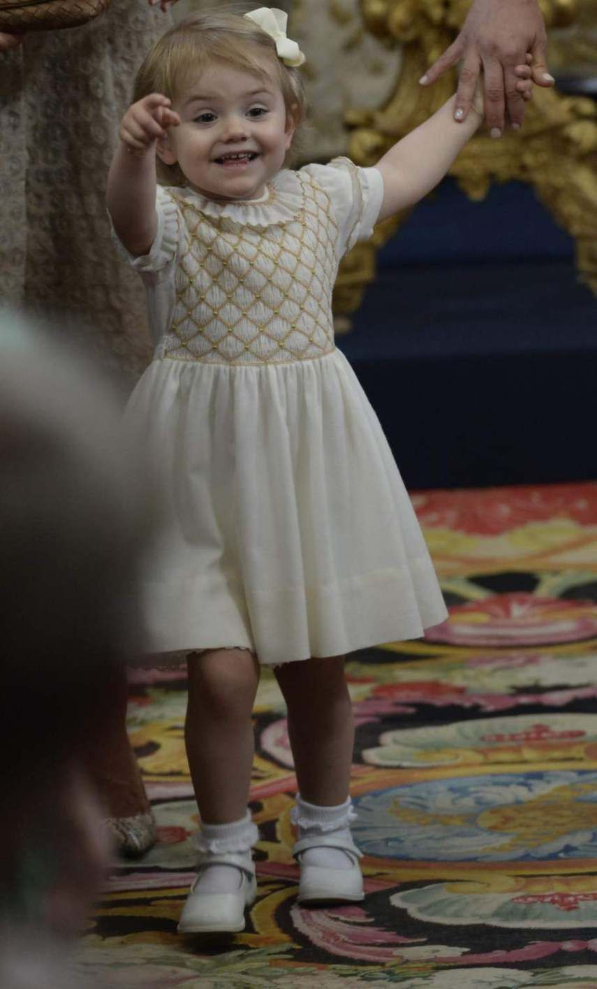Princess Estelle at the christening of princess Leonore.