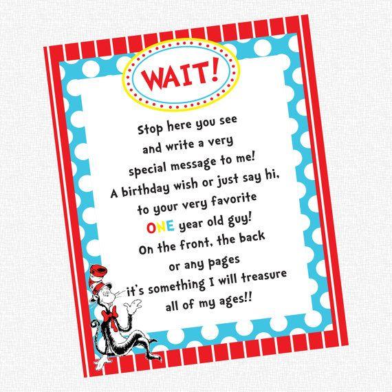photograph regarding Dr Seuss Happy Birthday to You Printable identify Dr Seuss Birthday Celebration - Visitor Guide Indicator - PRINTABLE (23