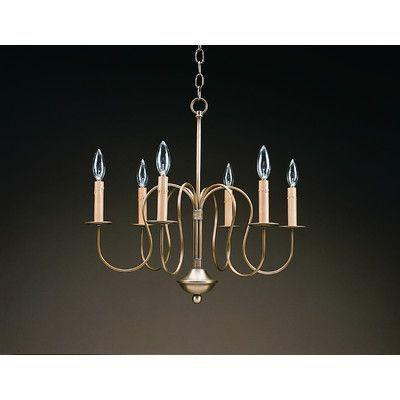 Northeast Lantern Sockets S-Arms Hanging 6 Light Candle-Style Chandelier Finish: Verdi Gris