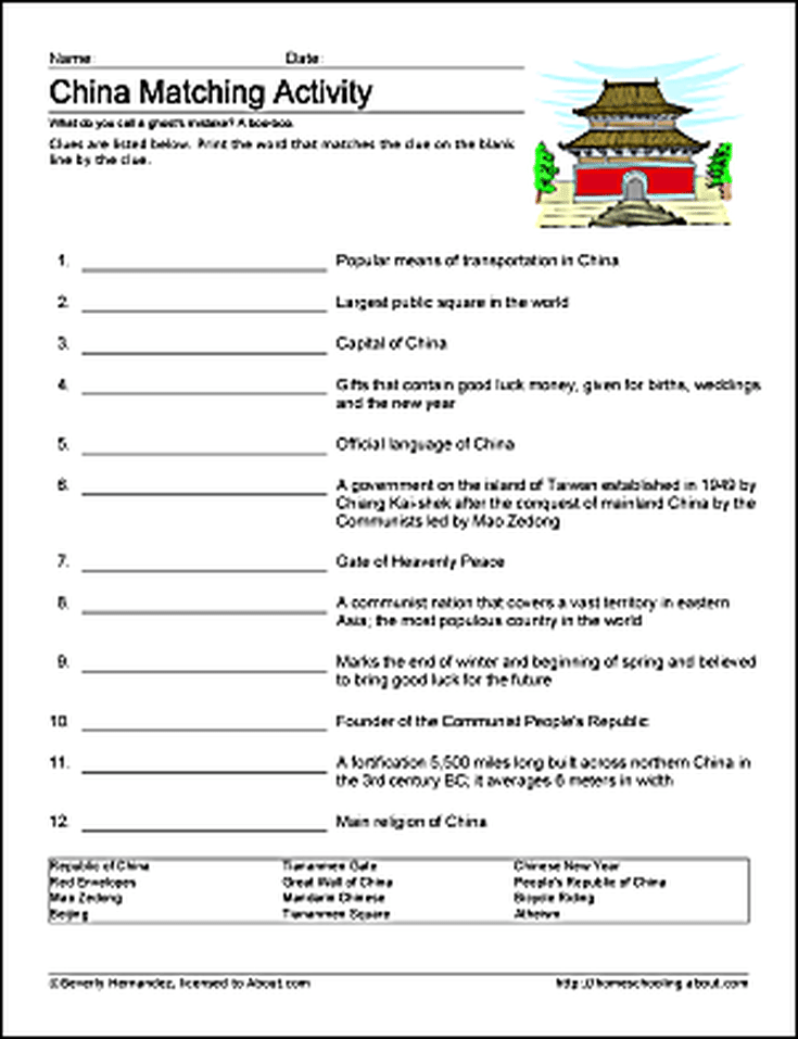 Learn about China with Free Printables   China facts ...