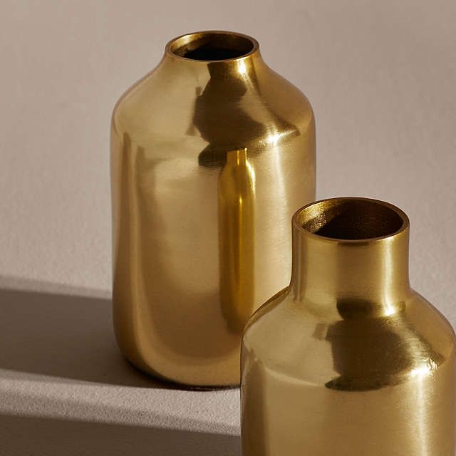 6bc07b4074d6 BuyDesign Project by John Lewis No.068 Vase, Short, Brass Online at  johnlewis.com