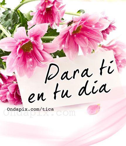feliz cumpleaños con flores Buscar con Google Felicidades !! Pinterest