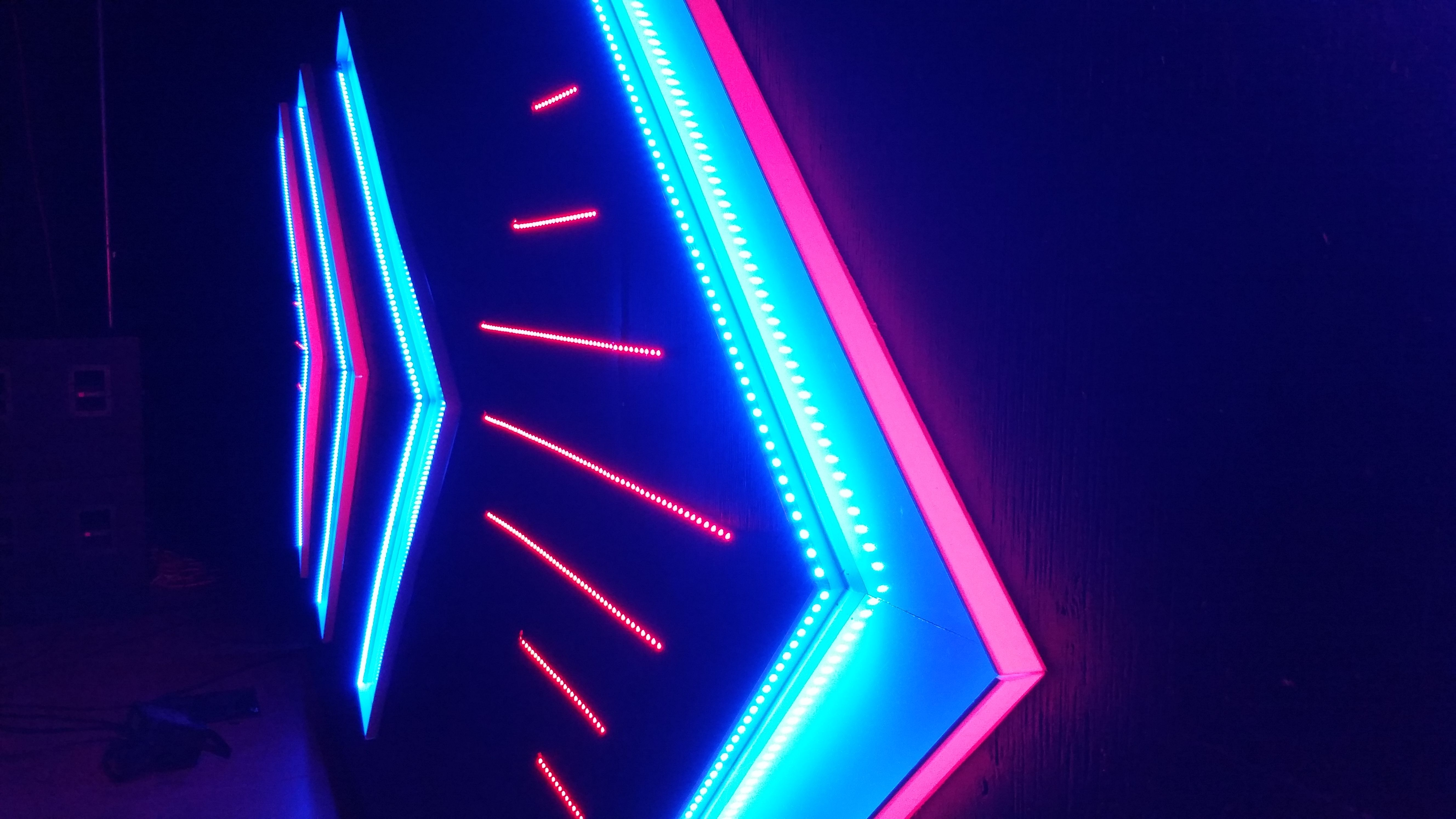 LED Tape + White Board + PVC | Church Stage Ideas | Pinterest ...