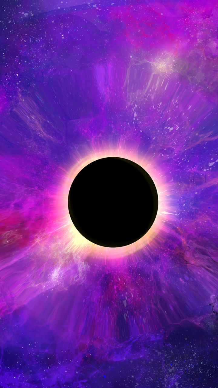 Space, colorful, dark, black hole, planet, 720x1280 ...