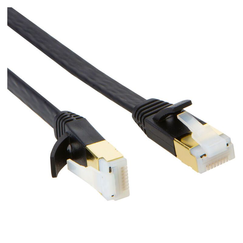 Cat7 10 Gigabit Ethernet Flat Network Cable With Gold Plated Rj45 Connectors 5m Black Ultra Flat Cat 7 10 Gi With Images Ethernet Cable Laptop Screens Laptop Accessories
