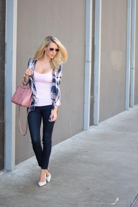 Blue-and-pink-plaid- on kier mellour of www.fashionaddict.la
