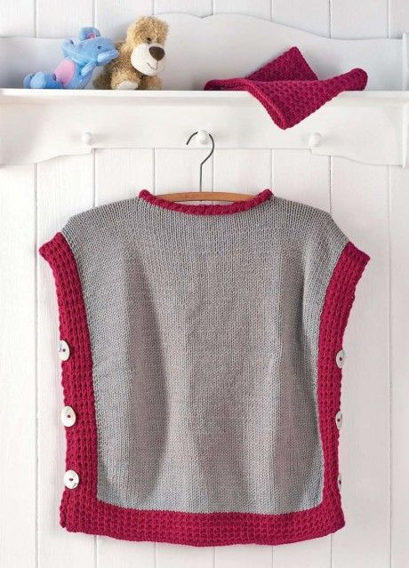 Childs Poncho And Cowl Free Knitting Patterns Accessories