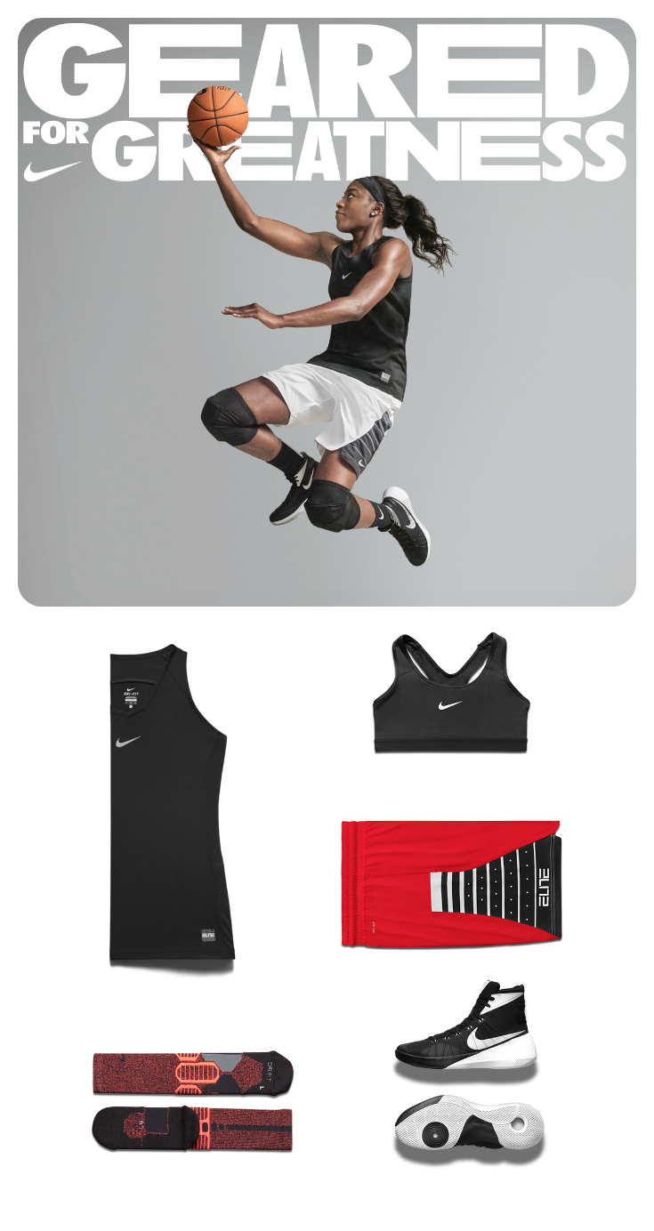 This Nike women s-specific basketball line is all about better-fitting gear  for greater comfort on court. Check it out. fe1d3accd63e7