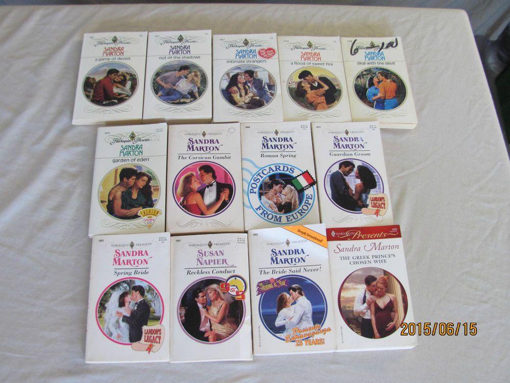 SANDRA MARTON LOT OF 13 PAPERBACK BOOKS – HARLEQUIN PRESENTS ROMANCES