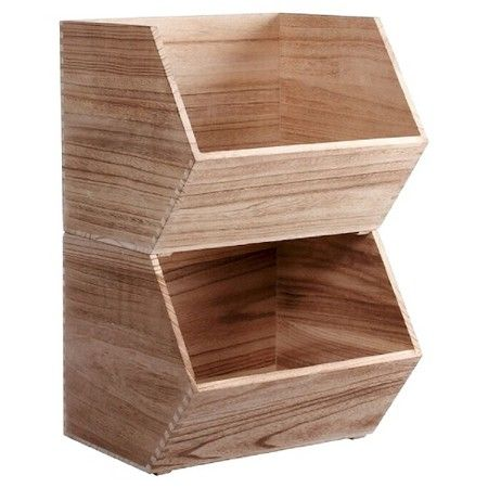 Large Stackable Storage Wood Bin Pillowfort Toy Storage Bins Diy Toy Storage Toy Storage Solutions