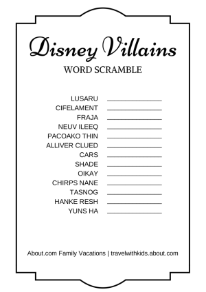 Versatile image intended for disney trivia printable