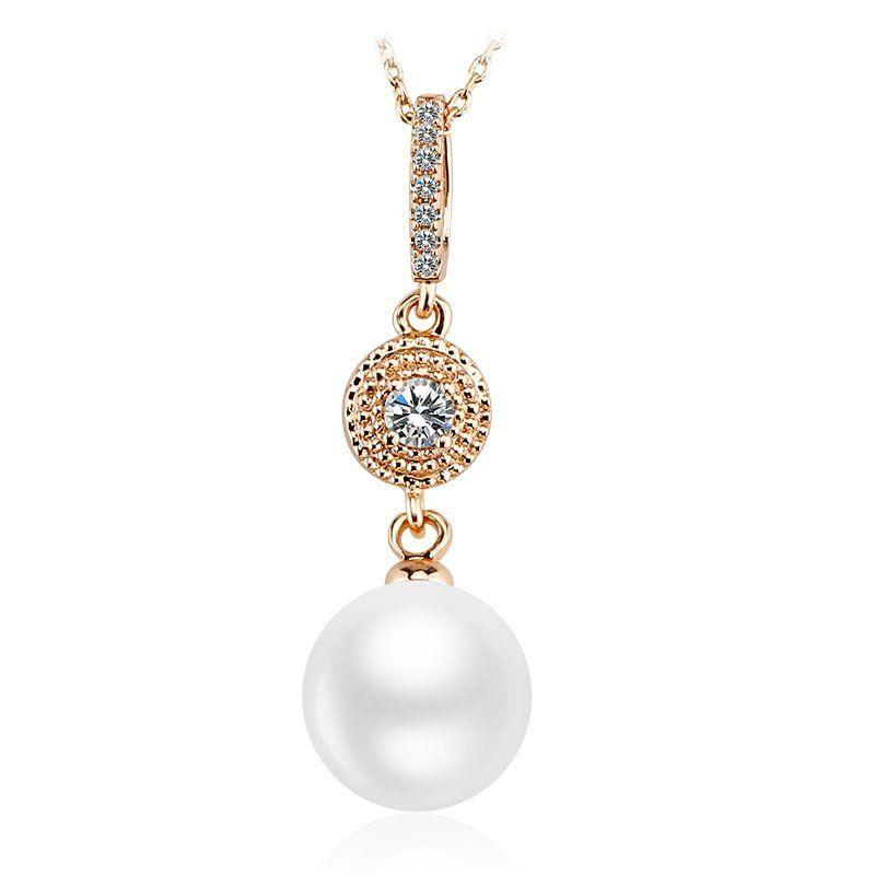 565c0db2d1 Kiváló minőségű futtatott gyöngy medálos női nyaklánc áttetsző swarovski  elements kristályokkal kizárólag az Ékszerház.hu-ról