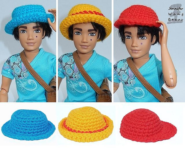 Ravelry: Basic Crochet Hats for Dolls and Amigurumi link to free ...