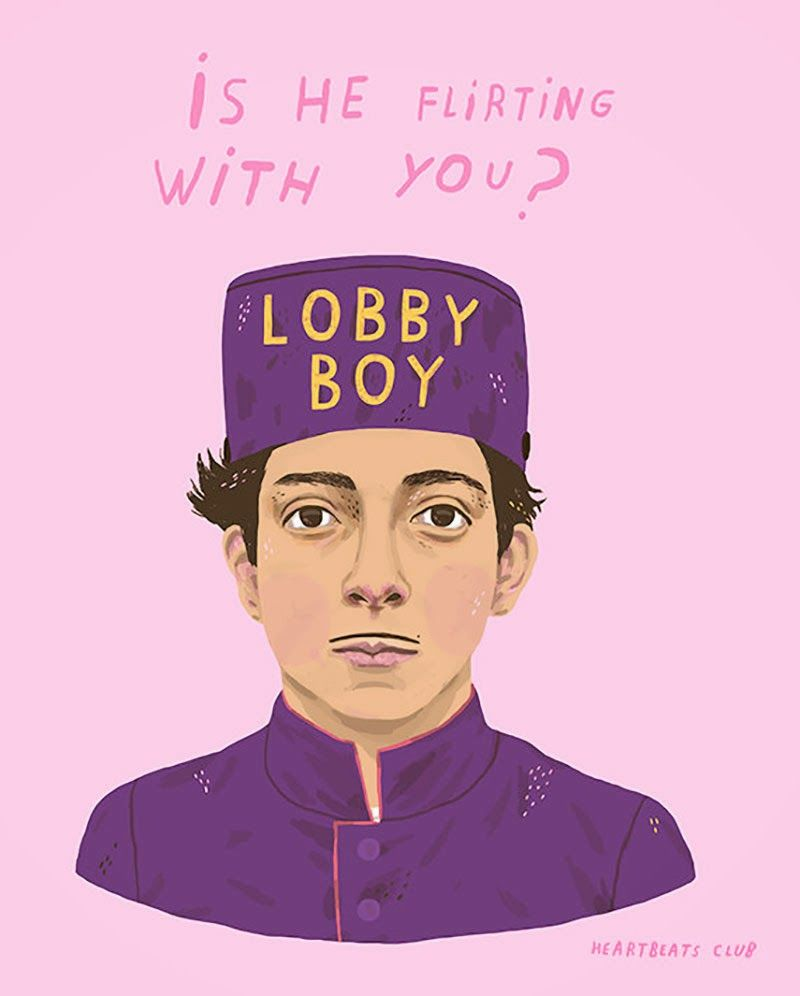 Grand Budapest Hotel Quotes El Color Rosa En La Ilustración  Art  Pinterest  Heart Beat