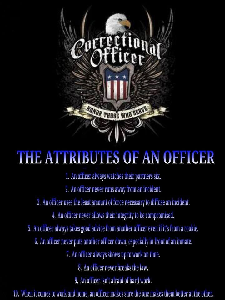 Officer Attributes corrections officer Pinterest - Cook County Correctional Officer Sample Resume