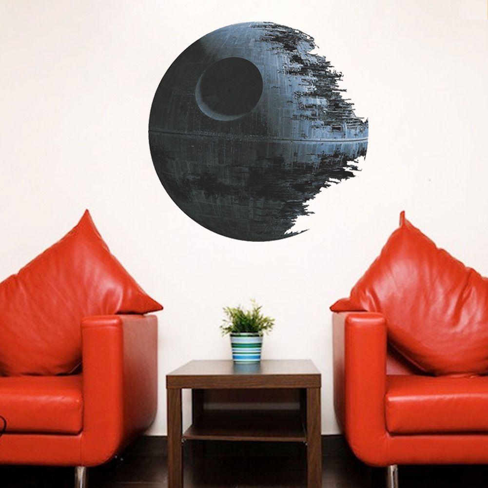D pvc children movies starwars death star vinyl art wall stickers