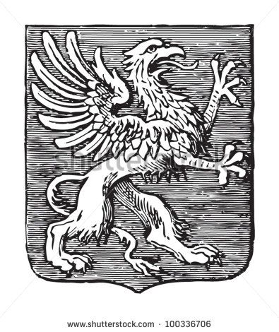 Griffin Heraldry Coat Of Arms Vintage Illustration From Meyers