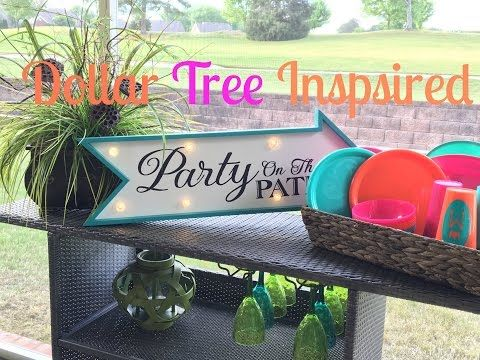 Dollar Tree Inpired Slumber + Patio Party - YouTube