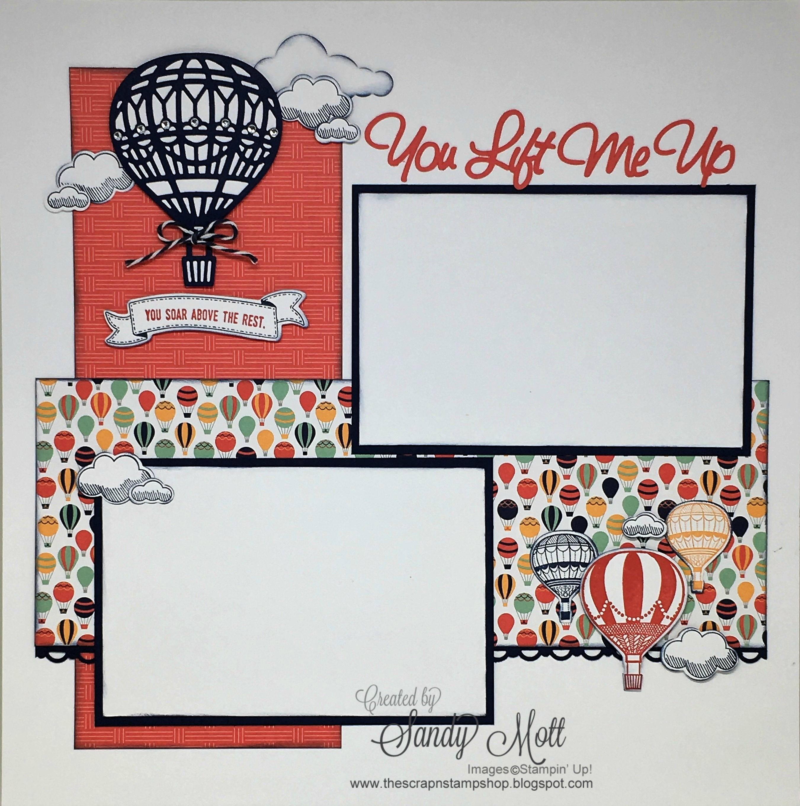 Lift me up bundle stampin 39 up scrapbook page created by sandy mott scrapbooking layouts - Scrapbooking idees pages ...