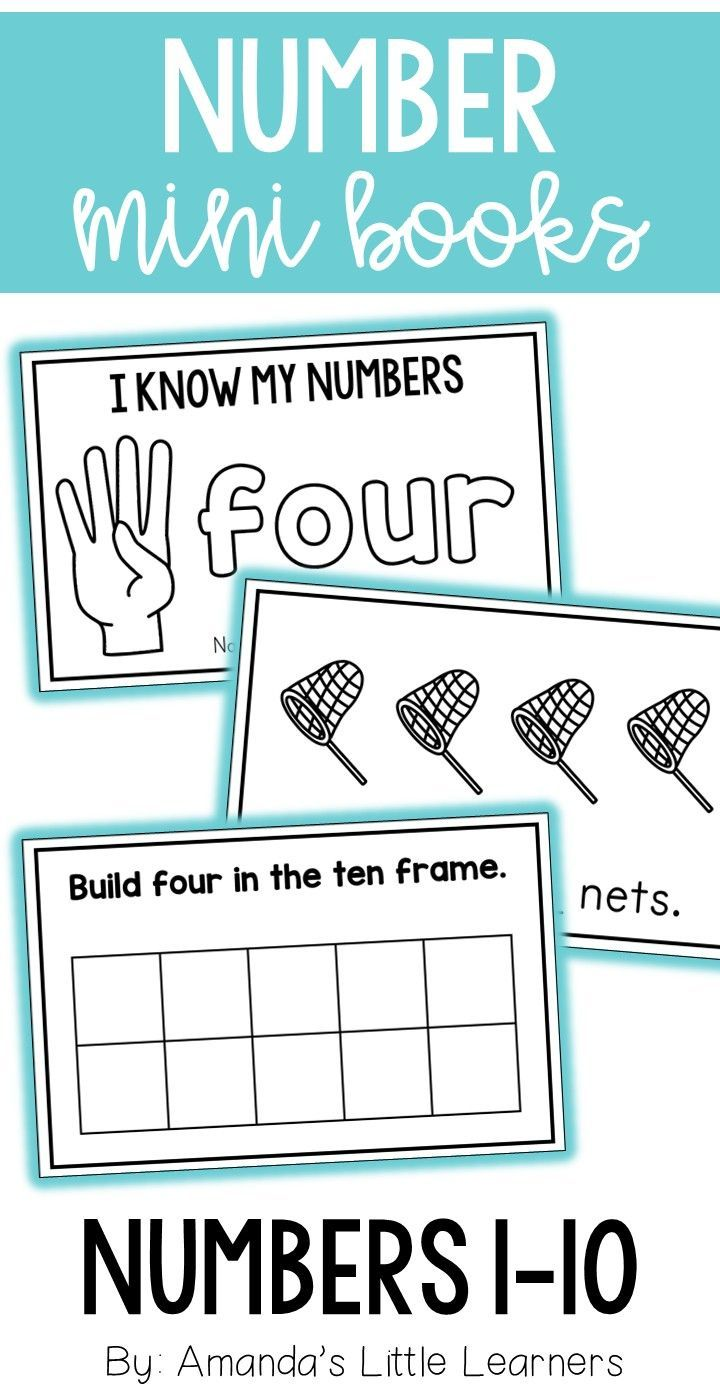 Number Mini Books 1-10 | Learning styles, Ten frames and Math