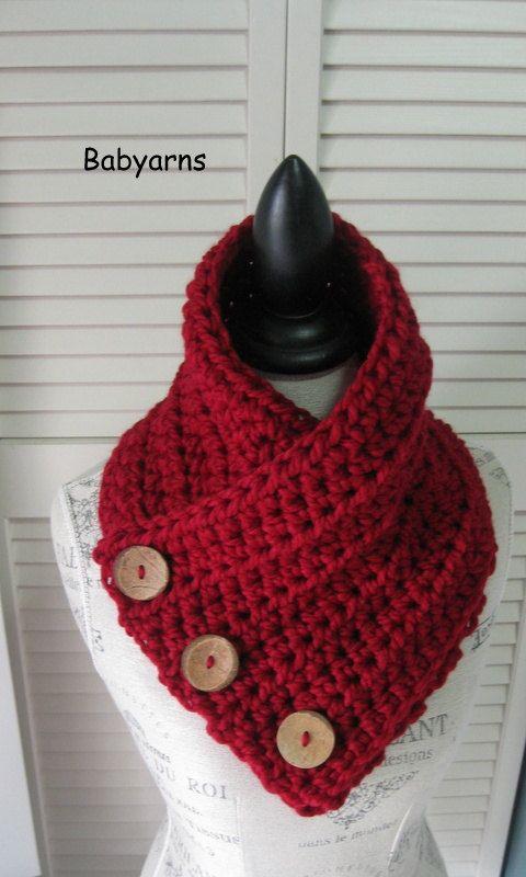 6975eb4e36e ORIGINAL BOSTON NY style écharpe Cowl Wrap Neckwarmer   automne hiver mode  écharpe 3Buttons Crochet tricotés à la main   capot écharpe unisexe  foulards ...