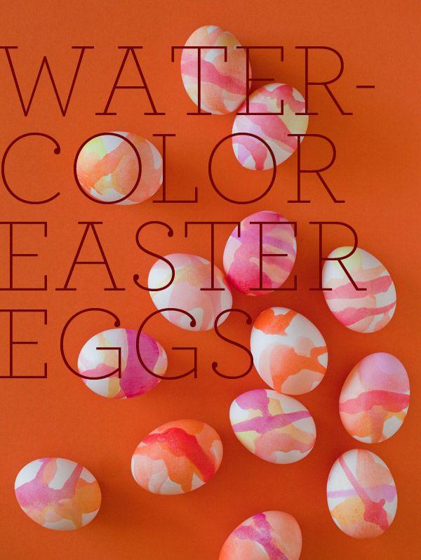 Watercolor Easter eggs.
