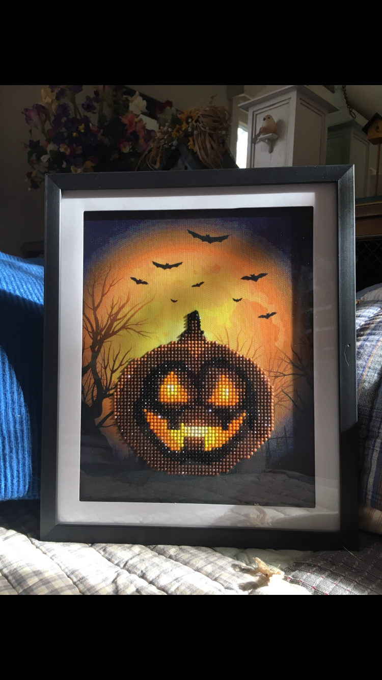 Pumpkin Diamond Painting In Frame I Found At The Dollar Store Diamond Painting 5d Diamond Painting Painting