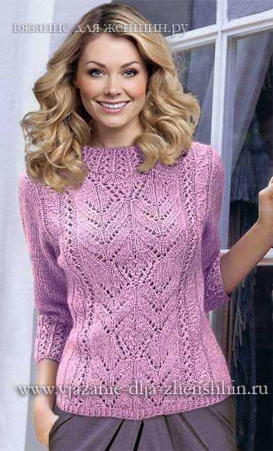 Женский свитер спицами со схемами 2015 2016 фото 972