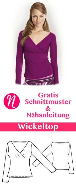 Wickelshirt für Damen | Sewing | Pinterest | Sewing, Sewing patterns ...