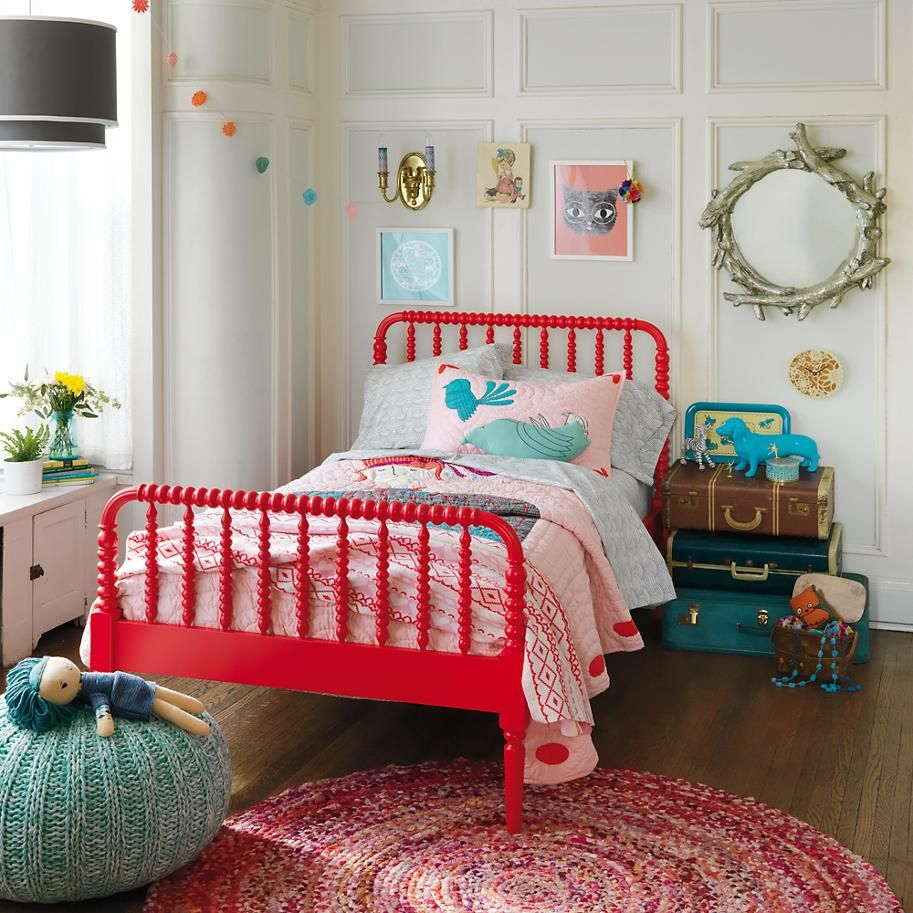 Kids Beds Kids Red Spindle Jenny Lind Bed In Beds The Land Of